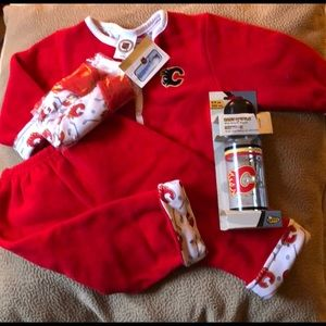 Other - Red fleece 18 mo outfit NHL Calgary Flames NWT
